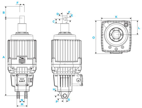 Eldro diagram for EMG Eldro electrohydraulic thruster