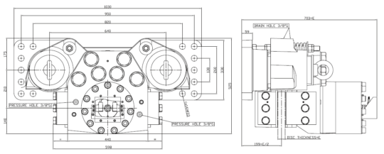 Diagram for Industrial Brakes NHC 2125-2130-2135-2145