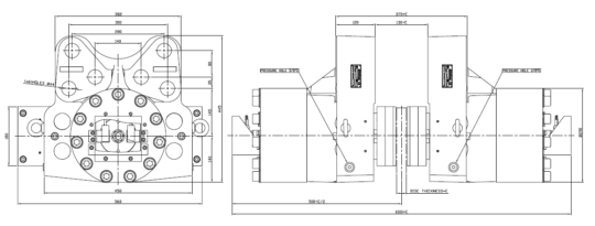 Diagram for Industrial Brakes NHCD 2125, NHCD 2130, NHCD 2135, NHCD 2145